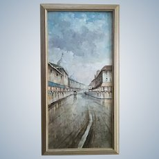 Nicholas Palsey, European Cityscape French Impressionist Parisian Street Scene Signed by Artist