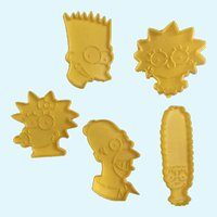 Wilton The Simpsons Cookie Cutters Animated Characters Set 5 1990