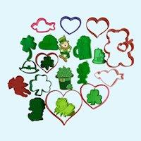 Hallmark Saint Patrick's & Valentines Day Cookie Cutters 22 Pc Group