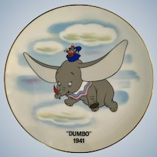 Walt Disney Flying 'Dumbo 1941' Collectors Elephant Plate