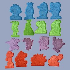 Wilton Super Mario, Ninja Turtles, Dragons and Monster Boys Cookie Cutters 16 Pc