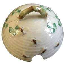 Belleek Shamrock Basket Weave Honey Jar Pot Lid for Replacement