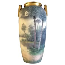 Pickard Soft Vellum Glaze Vase Signed By Artist James Mark 7 1912-1918
