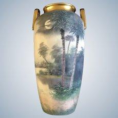 Pickard Soft Vellum Glaze Vase Signed By Artist James Mark 7 1912-1918