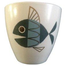 "Metlox Tropicana Fish Flower Pot 5"" Extremely RARE Helen Mclntosh"