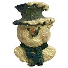 Enesco Snowsnickle Snowman Linda Lindquist Christmas Pin Brooch
