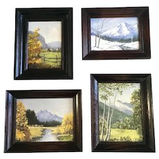 Joanne Yager, Four Seasons in Colorado Oil Paintings Signed By Colorado Artist