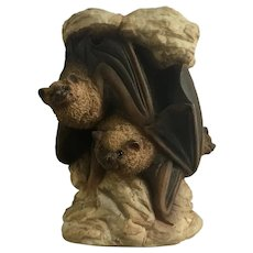 Rare Stone Critters Bat Animal Family Figurine HTF  SC-845 Discontinued