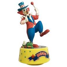 Bozo the Clown Amusing Music Box Plays, 'Yankee Doodle Dandy' Music Box Schmid