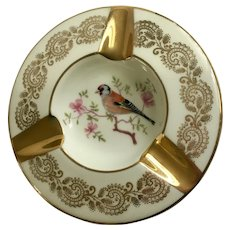 Limoges Bird Ashtray for Cigarettes or Cigars