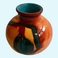 Poole Pottery Delphis Vase England Volcano Lave Glaze