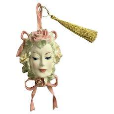 Silvestri Floral Lady Head Ornament Decoration Christmas