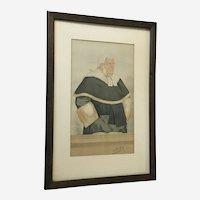 Spy Vanity Fair 1893 Judge Sir Lewis William Cave Lithograph