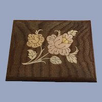 Marquetry Music Box Inlaid Wood Works Italy Love Song Sankyo