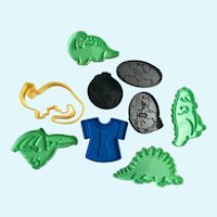 Boys Wilton Batman DC Comics & Dinosaurs Cookie Cutters 1980's Children