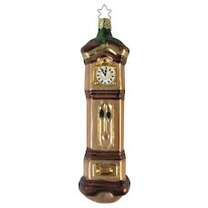 Inge Glas Grandfather Clock Old World Christmas Ornament Christmas Carol Germany