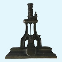 Industrial Bronze Paperweight Sculpture Hydraulic Die Press