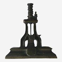 Industrial Bronze Paperweight Sculpture Hydraulic Die Press