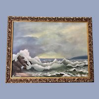 Niederhut, Coastal Seascape Oil Painting Signed by Artist