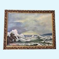 Niederhut, Coastal Seascape Oil Painting Signed by Artist