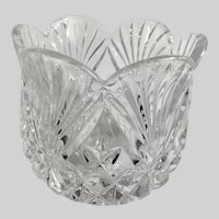 Lovely Cut Crystal Tulip Vase