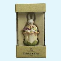 Bunny Rabbit Butterfly Figurine Villeroy & Boch Easter Figurine