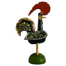 Vintage Folk Art Rooster Wooden Algarve, Portugal Souvenir