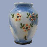 Occupied Japan Miniature Vase Dollhouse Moriage  Floral