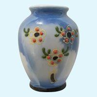 Occupied Japan Miniature Vase Dollhouse Moriage  Floral