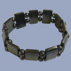Mirror Reflection Smoky Colored Stretch Bracelet