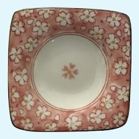 Small Cherry Blossom Floral Square Dish