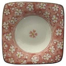 Small Cherry Blossom Floral Square Dish