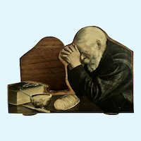 Grace Man Praying Wood Handmade Napkin Holder Minnesota