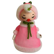 Vintage Christmas Girl Styrofoam Snow Foam Products  El Monte, California Figure