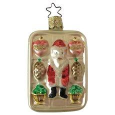 Santa Candy Box Christmas Ornament Inge Glas Old World Blown Glass Germany