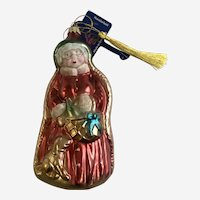 Large Lauscha Glas Christmas Mrs. Claus Germany Ornament