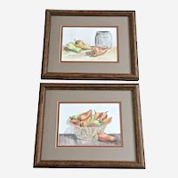 Tony O'Nele, Chillies Still Life Watercolor Paintings Signed by Artist
