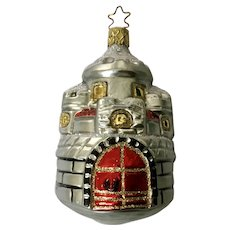 Inge Glas Old World Blown Glass Castle Building Christmas Germany Ornament