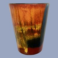 Poole Pottery Delphis Cup England Volcano Lave Glaze 3-3/4 inches Tall