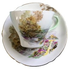 Heather Gainsborough by Shelly Flat Cup & Saucer Set England