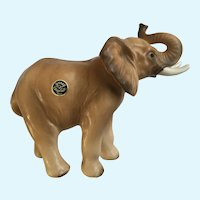 Rare Josef Originals Trunk Up  Elephant Mom Ceramic Figurine