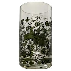 Mid-Century Shot Glass Hunting Stags and Falcons