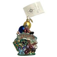 Christopher Radko 'It's A Boy' Little Gem Christmas Glass Tree Ornament