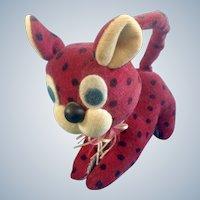 Napco Stuffed Animal Velveteen Leopard 1960's Plush Toy