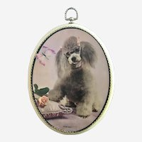 Mid-Century Poodle Dog Print Wall Plaque For Me?