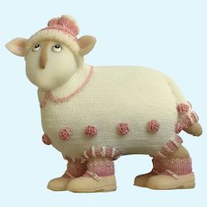 Silly Enesco, Ruby Ewe and Me Sheep Toni Goffe Figure Border Fine Arts