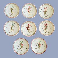 Christmas Dancing Reindeer Coffee Cocoa Top Coasters Ceramic CounterArt