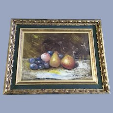 Henryk Dzienczarski, Fruit Still Life Oil Painting Signed by Listed Artist