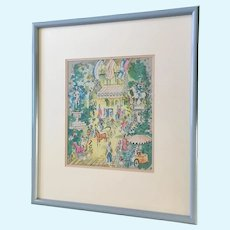 Charles Cobelle (1902-1998), Paris Day at the Park Limited Edition Lithograph Print
