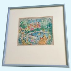 Charles Cobelle (1902-1998), Paris Afternoon at the Seine River Limited Edition Lithograph Print